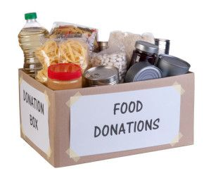 box of food donations
