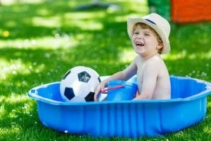 Child in baby pool